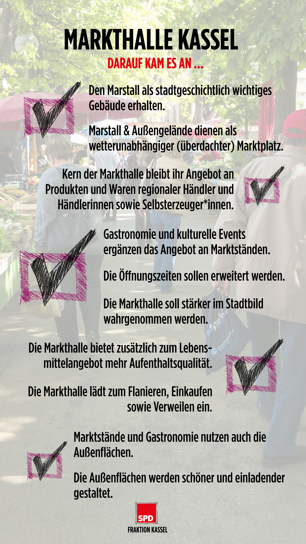 Kriterien Konzeptvergabe Markthalle Kassel (Übersicht)