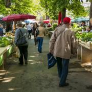 Markt im Sommer