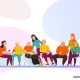 Grafik von Menschen im Seniorenwohnheim (Copyright: Macrovector via Freepik)