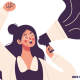 Grafik einer Frau mit Megaphon (Copyright: Pikisuperstar via Freepik)