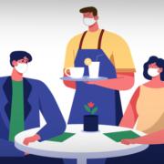 Grafik, die Menschen im Restaurant zeigt (Copyright: pikisuperstar - via Freepik)