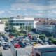 Blick auf den Parkplatz am Karlsplatz in Kassel
