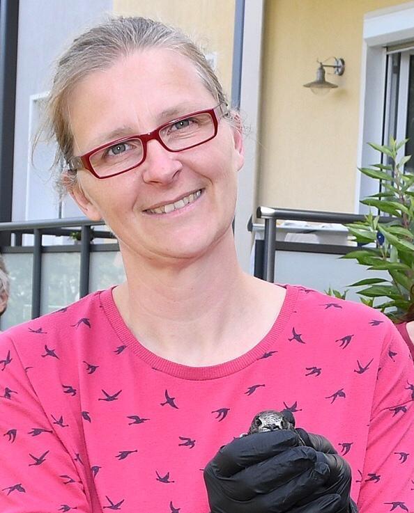 Wildvogel-Retterin Angela Schulz