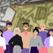 Gruppe von Menschen vor Stadtplan (Copyright: pch.vector via Freepik)
